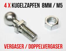 4 x Kugelzapfen DIN 71803 - 8mm M5 Gasgestänge Vergaser Doppelvergaser Gaszug