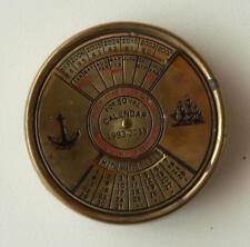 """Calendrier perpétuel en laiton (dit """"nautique"""") - Bel objet de décoration"""