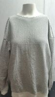 Zara Trafaluc Blouse Top Womens Autumn Winter Striped Black White GUC SZ M 28