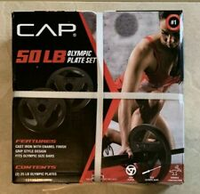 ➡️🆕️CAP 50LB Olympic Weight Plates Set Of Two 25LB Plates Ships Fast!💪