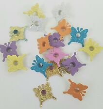 Scrapbooking 18 Butterfly Eyelets Embellishments 6 Spring Clrs Crafts Stamping