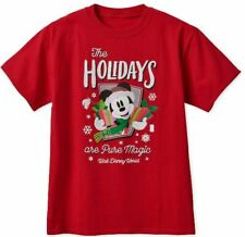 WDW DISNEY 2018 THE HOLIDAYS ARE PURE MAGIC RED T-SHIRT SIZE XL NEW WITH TAG