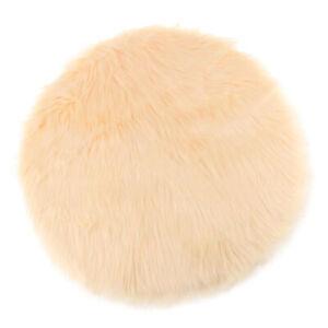 Soft Sheepskin Fluffy Skin Faux Fur Fake Rug Mat Small Rugs