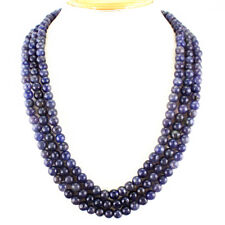 BUYERS TOP DEMANDED 655.00 CTS NATURAL 3 LINE BLUE TANZANITE BEADS NECKLACE
