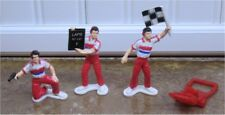 1/32 -3 PIT CREW FIGURES with TIRE JACK-GREAT FOR SCENERY