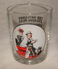 Saturday Evening Post Norman Rockwell SPEED Antique Automobile Glass Tumbler
