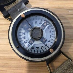 Metal Compass with Lid and Khaki Coloured Buckled Strap No. 1186/B #323