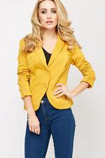 Women's Casual Biker Button Waist Length Coats & Jackets
