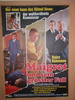 Maigret und sein grösster Fall Heinz Rühmann Filmplakat 60x80cm gefaltet