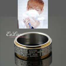 KPOP BTS Bangtan Boys Lord's Prayer Spinner Ring Korean Boy Band Idol spin cross