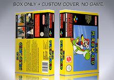 SUPER MARIO WORLD. PAL. Box/Case. Super Nintendo. BOX + COVER. (NO GAME).