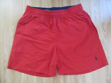 Mens POLO by RALPH LAUREN  M Medium Red Swimming Swim Shorts GREAT!