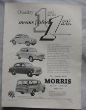 1955 Morris Original advert No.2