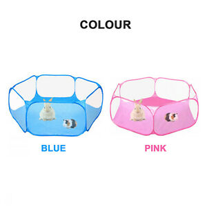 Pet Soft Play pen Dog Cat Rabbit Guinea Pig Puppy Play Crate Cage Tent Portable