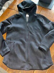 ★UNDER ARMOUR UA Unstoppable Move Kapuzenjacke Jacke Hooded XL Full-Zip BLACK★