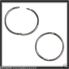 9CT WHITE GOLD 15mm HINGED HOOP SLEEPER EARRINGS JER648B Jewellery company