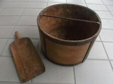 Getreidemaß, Scheffel, Simmer + Schaufel alt, ca. 19.Jhd, mit Eisenbeschläge