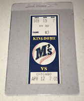 ⚾️4/12/1989 CWS @ Seattle Mariners Ticket Stub 🎫Griffey Jr. 8th Game! 6th Hit!