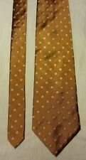 Brooks Brothers Makers men's Bronze Square Silk Dress Tie