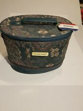VTG American Tourister Luggage Floral Tapestry Makeup Train Case Carry On Bag