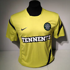 Celtic FC Football Club Soccer Lime Green Tennent's Nike Dri Fit Jersey Kit Med