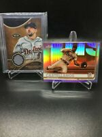 (2) 2019 Topps LOT Nicholas Castellanos NEGATIVE REFRACTOR + Tier one /375 relic