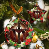 Jesus Christian Cross Christmas Ornament Decoration Happy Ornament Xmas