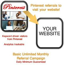 Website Visitors- 30 days/12,000 Pinterest Referrals/Visitors to your website