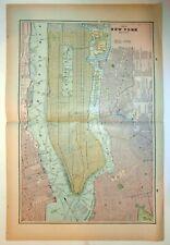Map – New York City – Brooklyn – Boston Ca. 1883