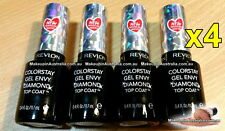 4x Revlon Colorstay Gel Envy Diamond Top Coat Nail Polish 010 (set of 4)
