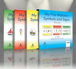 Makaton baby My First Makaton Symbols and Signs, Tom Pollard, Books 1, 2 & 3 new