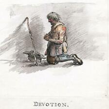 DEVOTION MAN AT PRAYER c1786 ORIGINAL PAINTING