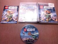 Sony PlayStation 3 PS3 CIB Complete Tested LEGO Star Wars III The Clone Wars