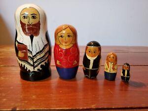 4 1/2 inch 5 Piece Russian Nesting Matroyshka Doll