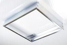 10x LUMIXON LED Panel Rahmen Halterung 60x60x5cm für Wand und Decke Alu Mattiert