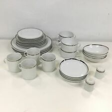 Thomas Germany White Porcelain Dinner Set With Platinum Set For Four #454