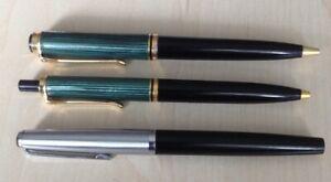 2 Pelikan Kugelschreiber Souverän und 1 Lamy Füller evtuell mit Goldspitze