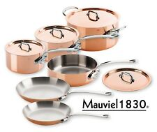 Mauviel m'150s Copper & Stainless Steel Saucepan Set 10 Pieces Stainless Steel Handles