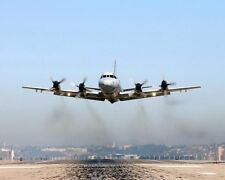 NAVY P-3 ORION PATROL AIRCRAFT TAKE OFF 8x10 SILVER HALIDE PHOTO PRINT