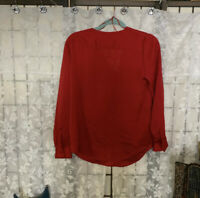 Vince Camuto Long Sleeve Red Blouse Size Small