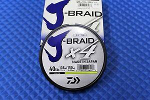 Daiwa J-Braid X4U 40-135Y Fluorescent Yellow 40lb 150yd By Daiwa 4000-2007