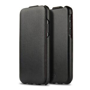 NOVADA Duke Genuine Leather Flip Case Cover for iPhone X & XS - Black