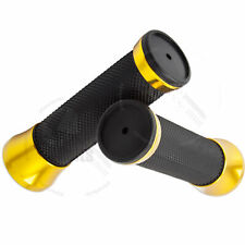 """Handle Bar 22mm Left Right Gold Universal CNC Apollo Hand Grip 7/8"""" Rubber"""