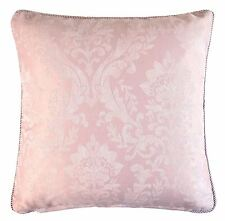 """WOVEN DAMASK ROPE TRIM PINK WHITE 17"""" - 43CM CUSHION COVER"""