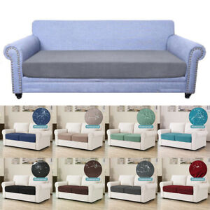 1-4 Seaters Elastic Seat Cushion Cover Stretch Sofa Cover Protector Home Decor