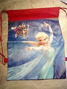 Disney Frozen Elsa kids swimming bag gym shoe sports school drawstring bag