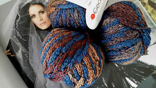 700 g SPICCO Gedifra Schachenmayr WOLLE Camel Braun Blau Jeans Jacke Pulli Loop