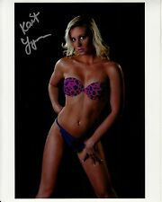 KAIT LYNN hand-signed SEXXXY COLOR CLOSEUP 8x10 w/ uacc rd coa IN-PERSON proof