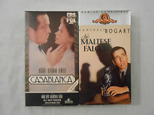 2 HUMPHREY BOGART Movies on 2 VHS Tapes: Casablanca/The Maltese Falcon