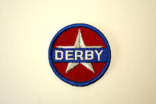 Rare Vintage Derby Oil & Gas Co. Racing Cloth Car Jacket Patch New NOS 1960s